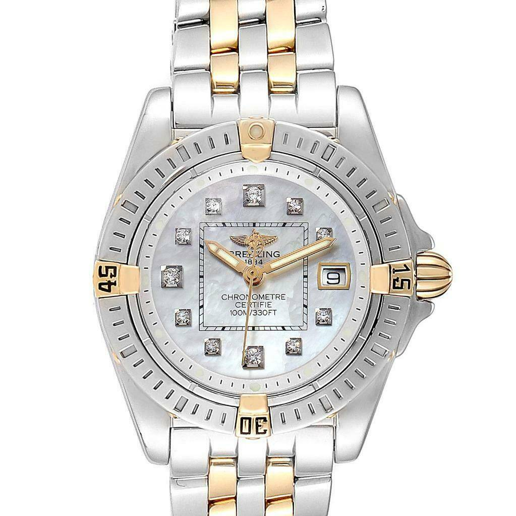 Breitling Cockpit Steel Yellow Gold Diamond Ladies Watch B71356 SwissWatchExpo