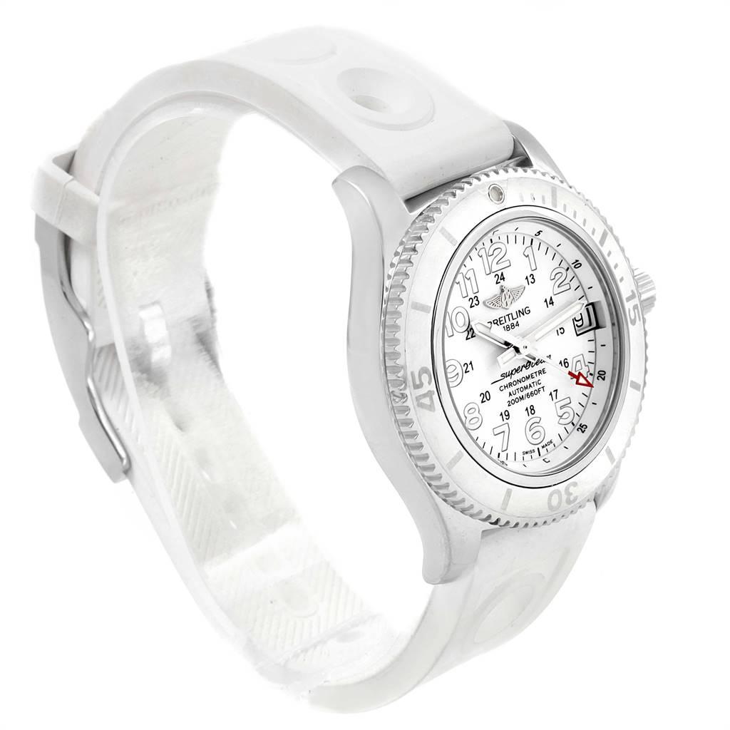 Breitling Superocean II 36 Hurricane White Ladies Watch A17312 Box Papers SwissWatchExpo