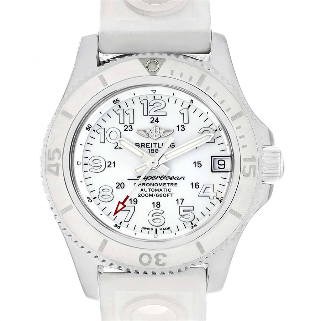 Photo of Breitling Superocean II 36 Hurricane White Ladies Watch A17312 Box Papers