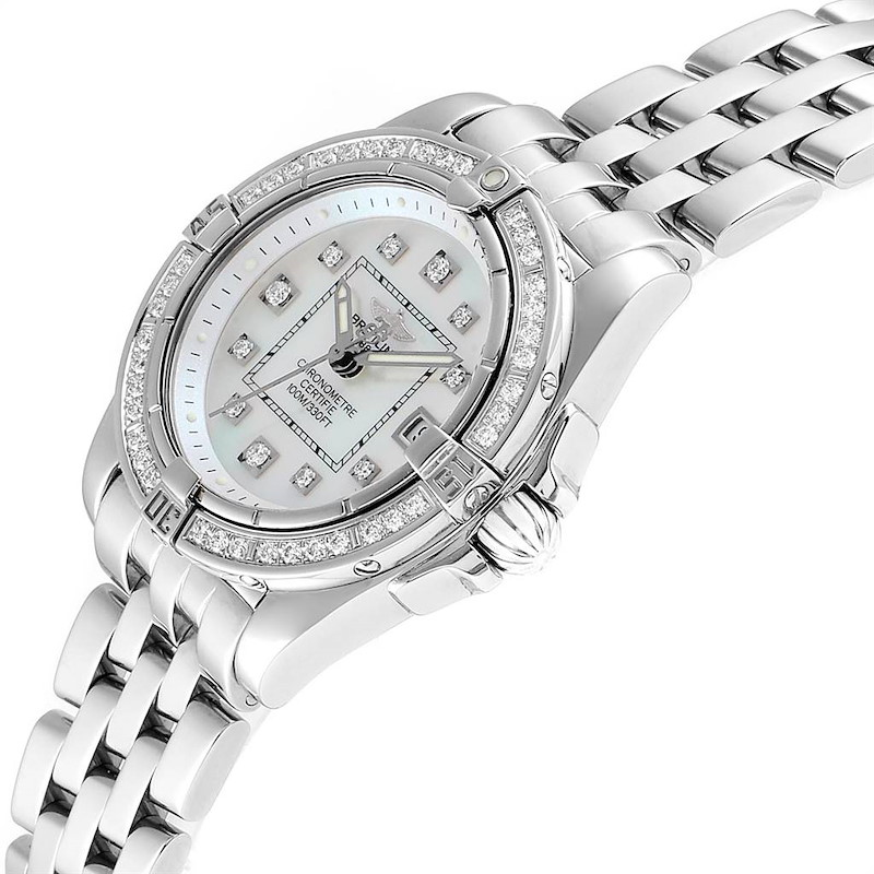 Breitling Cockpit Mother of Pearl Diamond Ladies Watch A71356 SwissWatchExpo