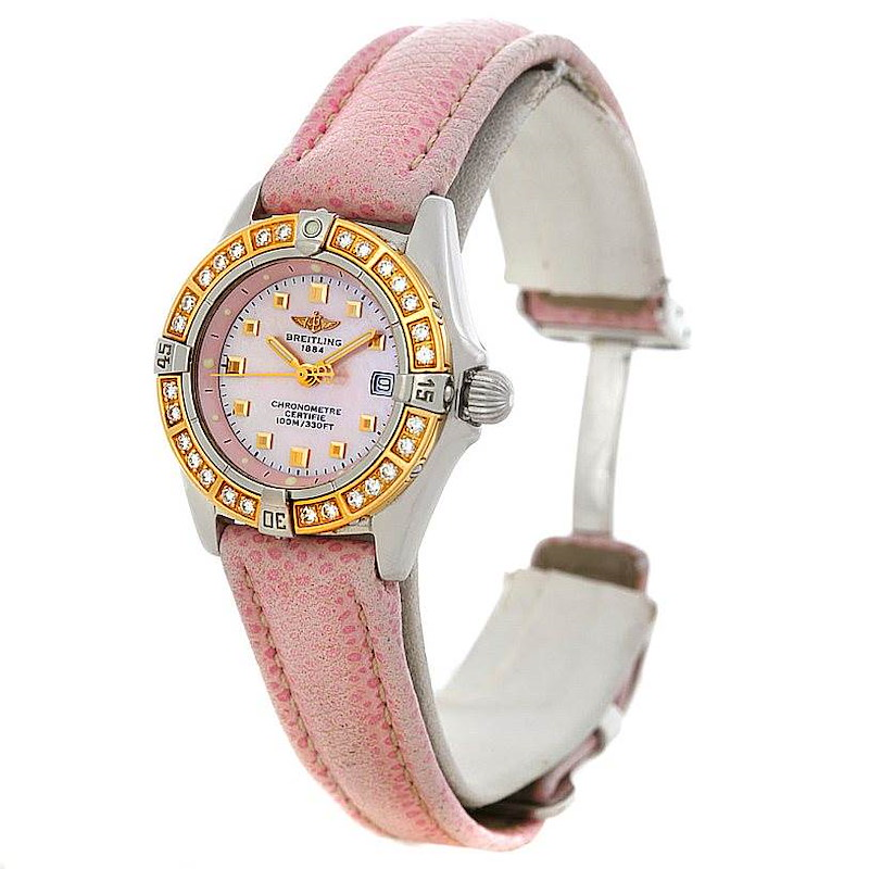 Breitling Windrider Calisto Ladies Diamond Watch D72345 SwissWatchExpo