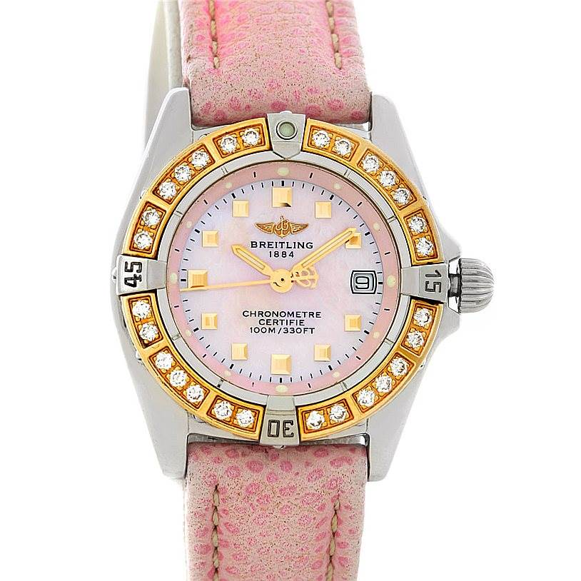 4588 Breitling Windrider Calisto Ladies Diamond Watch D72345 SwissWatchExpo