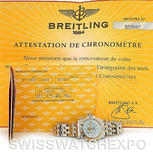 3069 Breitling Cockpit Ladies Diamond Watch D7135612 SwissWatchExpo