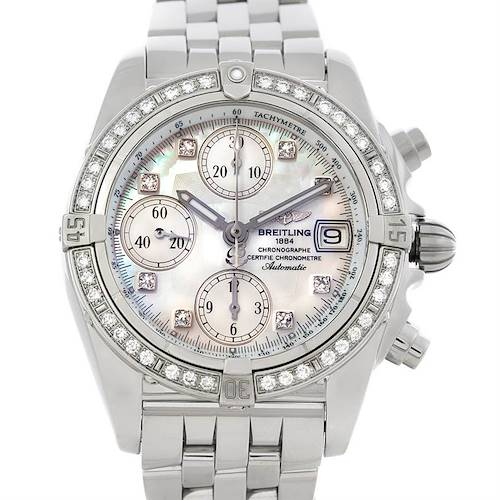 Photo of Breitling Ladies Windrider Cockpit MOP Diamond Watch A13358