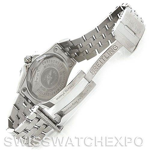 6050 Breitling Starliner Ladies MOP Diamond Watch A71340 SwissWatchExpo