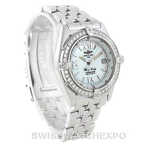 Breitling Windrider Wings Ladies MOP Diamond Watch A67350 SwissWatchExpo