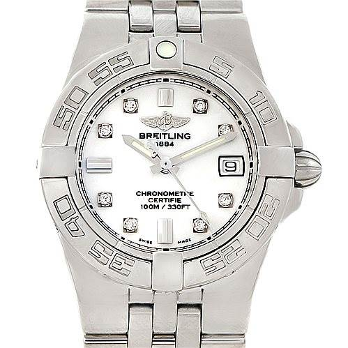 7488 Breitling Starliner Ladies Diamond Watch A71340 SwissWatchExpo