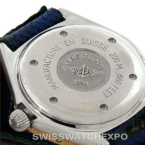Breitling Lady J Stainless Steel 18K Yellow Gold Watch D52065 SwissWatchExpo