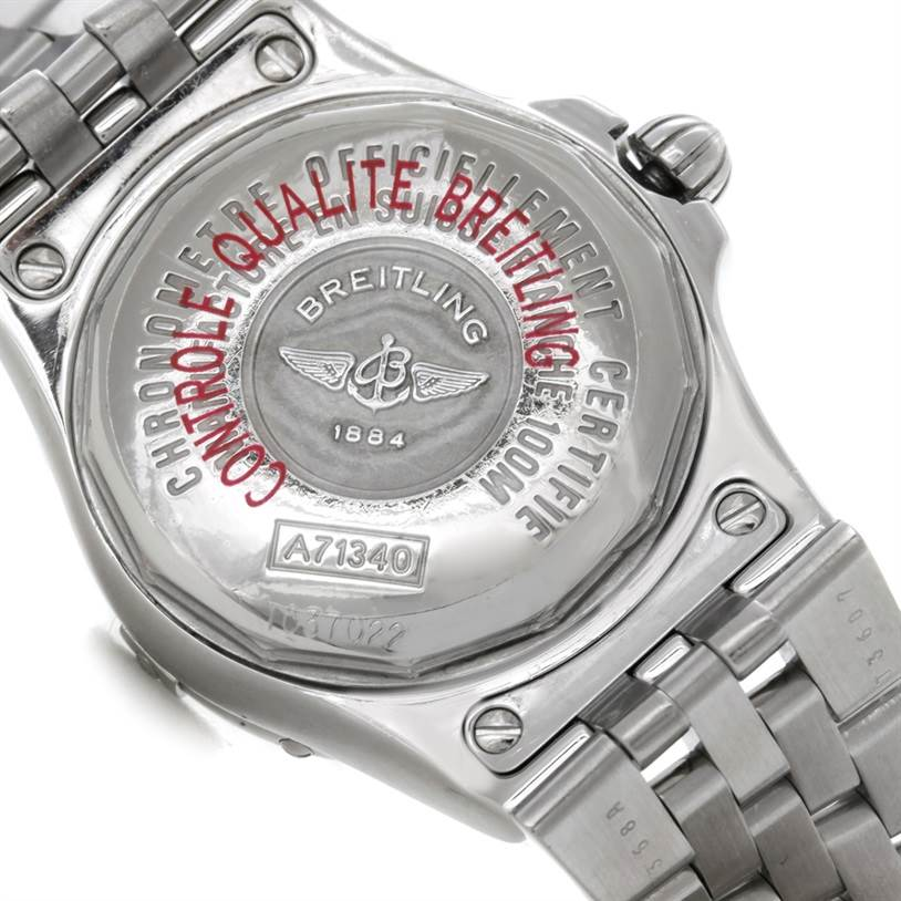 8889 Breitling Starliner Ladies Mother of Pearl Diamond Watch A71340 SwissWatchExpo
