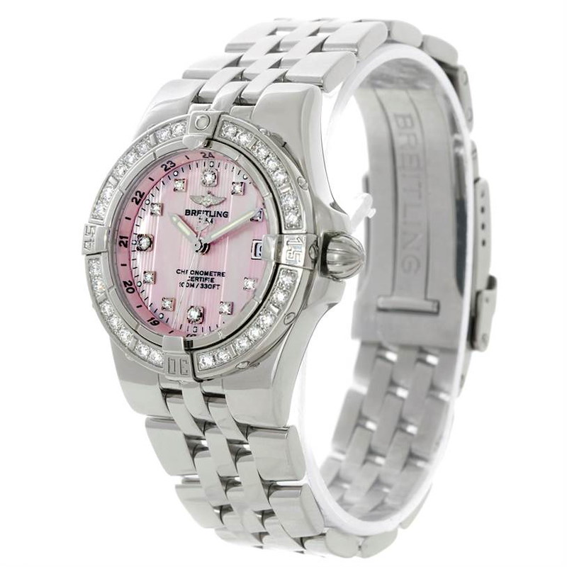 Breitling Starliner Ladies Mother of Pearl Diamond Watch A71340 SwissWatchExpo
