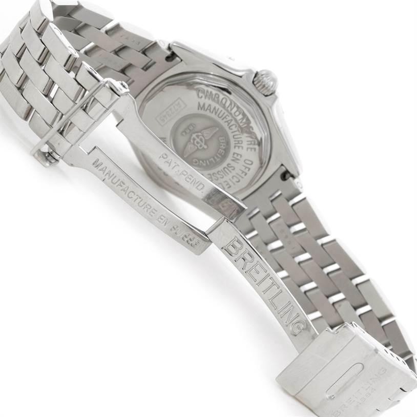 9154 Breitling Callisto Ladies Mother of Pearl Diamond Watch A72345 SwissWatchExpo