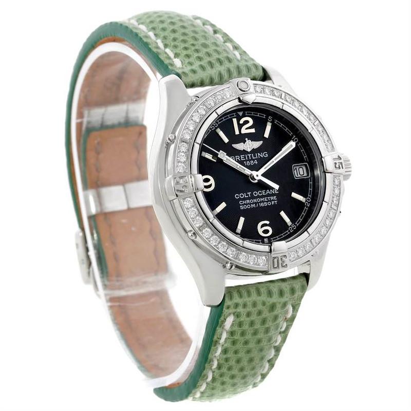 Breitling Colt Oceane SQ Ladies Diamond Watch A77350 SwissWatchExpo