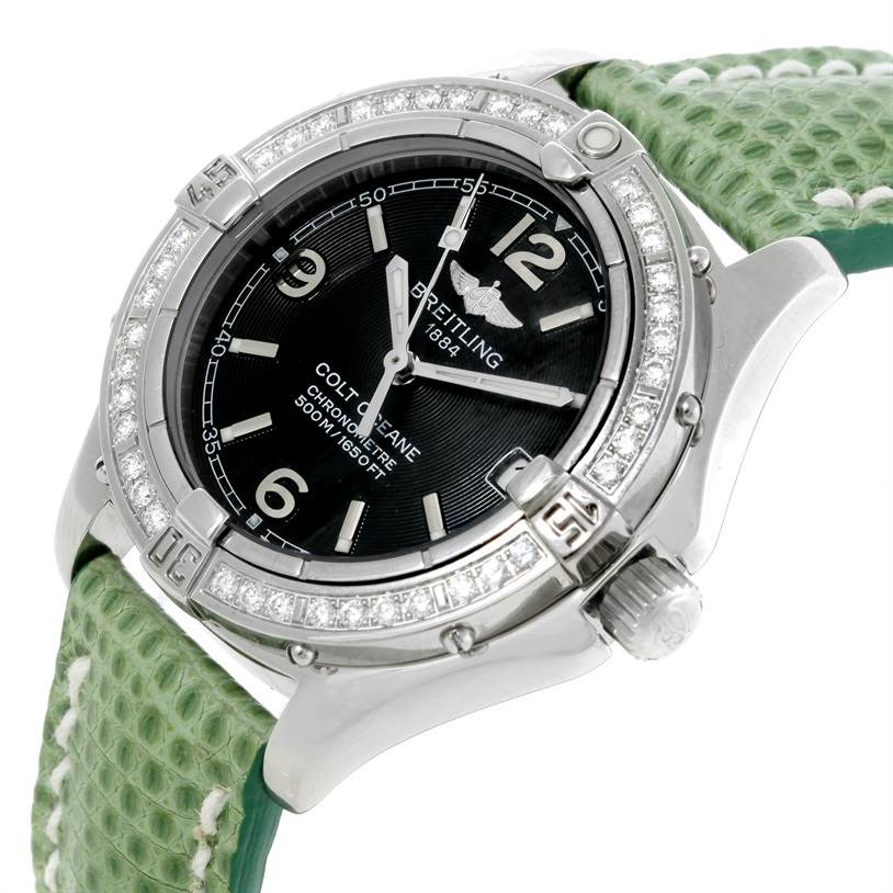 9155A Breitling Colt Oceane SQ Ladies Diamond Watch A77350 SwissWatchExpo