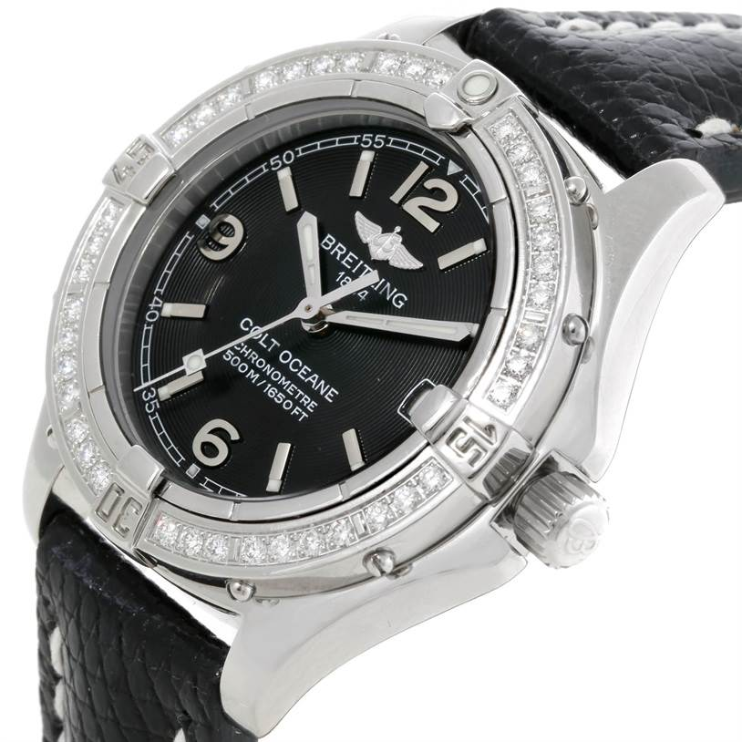 9155 Breitling Colt Oceane SQ Ladies Diamond Watch A77350 SwissWatchExpo