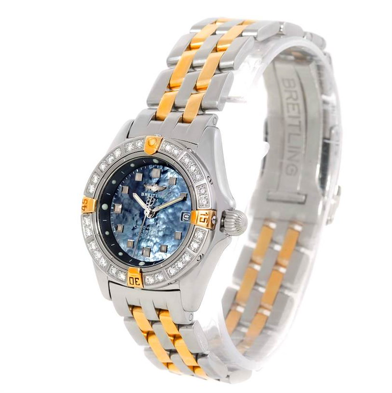 Breitling Callisto Ladies Mother of Pearl Diamond Watch A72345 SwissWatchExpo