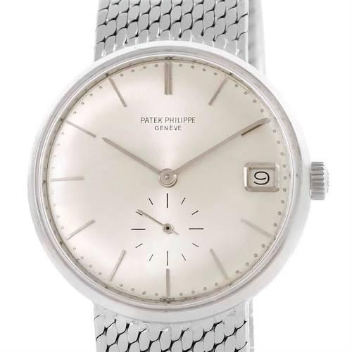 Photo of Patek Philippe Calatrava Vintage Automatic 18k White Gold Watch 3514 Papers