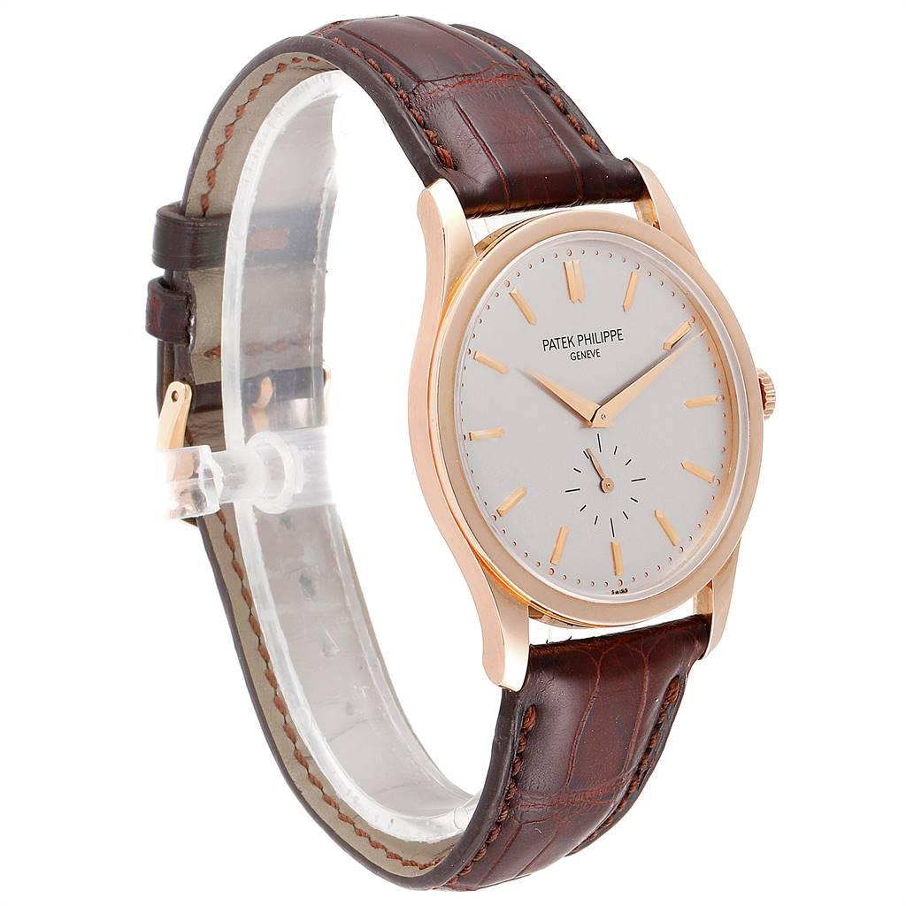 Patek Philippe Calatrava 37mm Rose Gold Mens Watch 5196 Archive Papers SwissWatchExpo