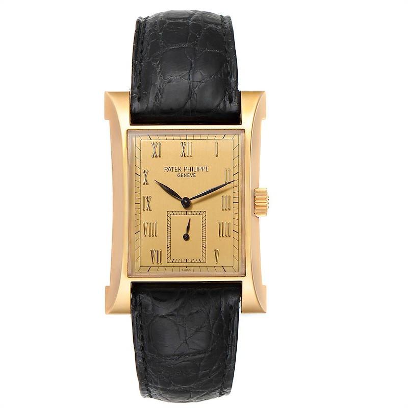 Patek Philippe Pagoda Yellow Gold Limited Edition Mens Watch 5500J SwissWatchExpo