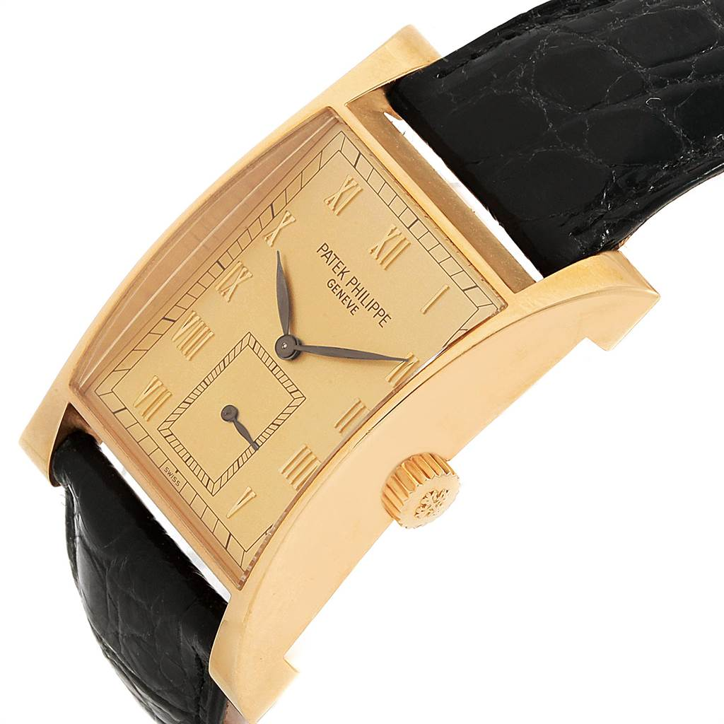 11376P Patek Philippe Pagoda Yellow Gold Limited Edition Mens Watch 5500J Papers SwissWatchExpo
