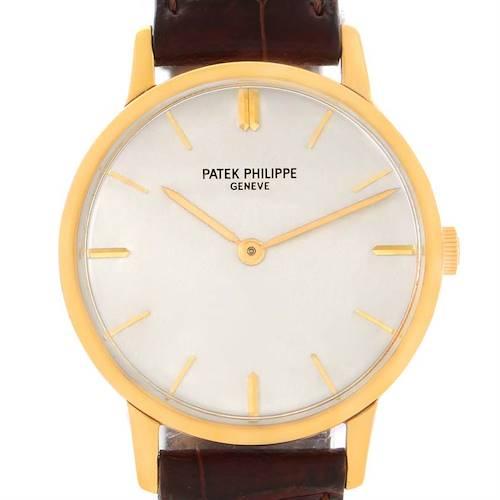 Photo of Patek Philippe Calatrava 18k Yellow Gold Vintage Mens Watch 2599