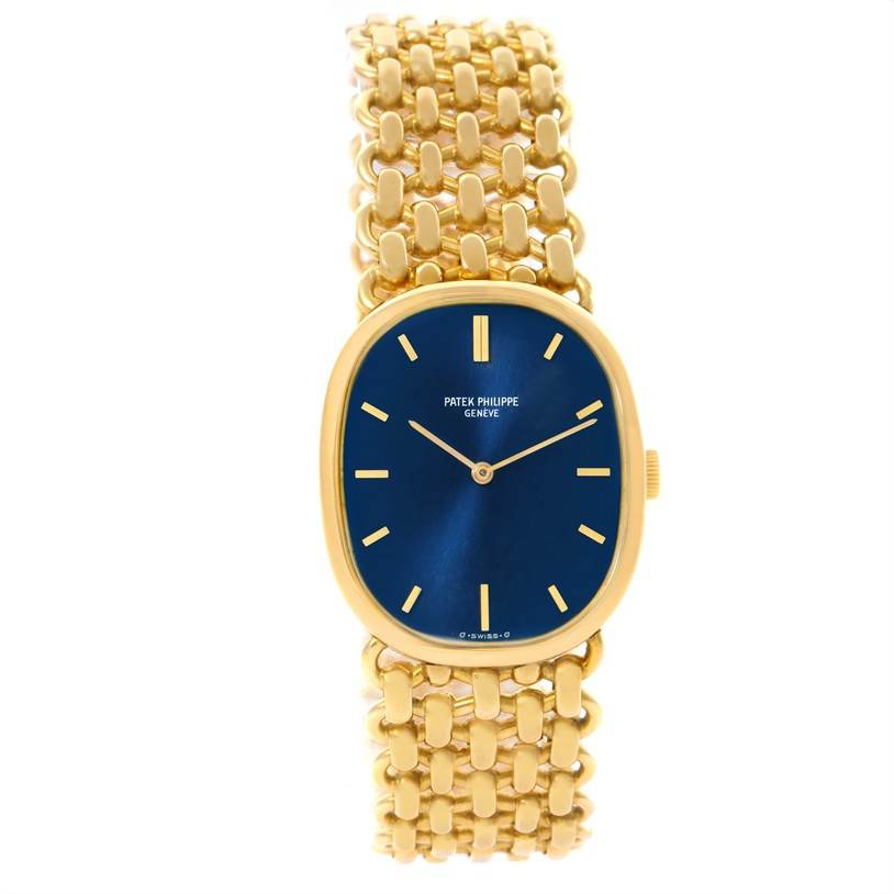 Patek Philippe Golden Ellipse 18k Yellow Gold Blue Dial ...