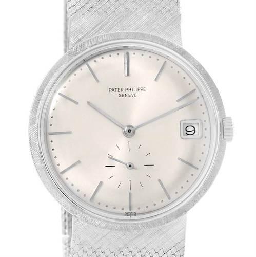 Photo of Patek Philippe Calatrava Vintage 18k White Gold Watch 3445
