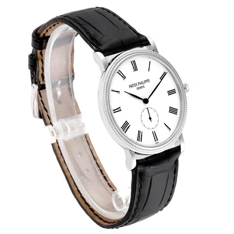 Patek Philippe Calatrava 18k White Gold Hobnail Bezel Mens Watch 5119 SwissWatchExpo