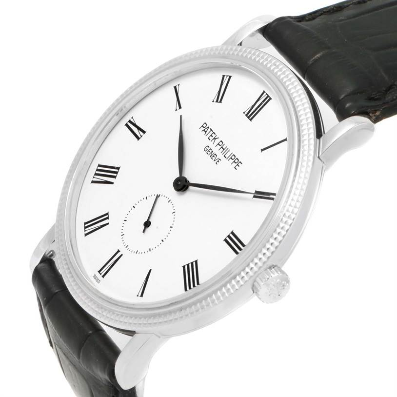 12127P Patek Philippe Calatrava 18k White Gold Watch 5119G SwissWatchExpo