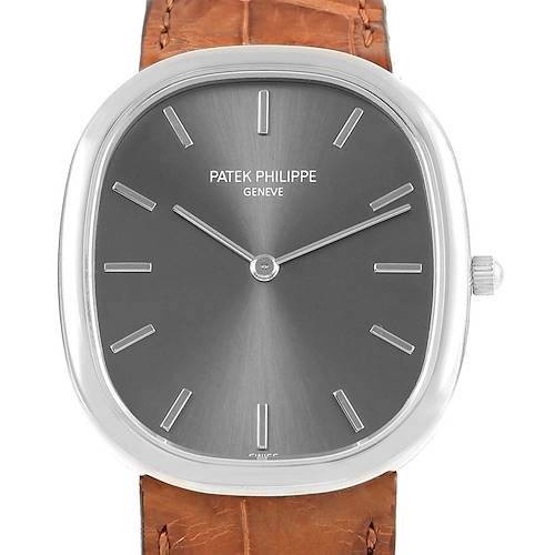 Photo of Patek Philippe Golden Ellipse White Gold Grey Dial Watch 3738 Box Papers