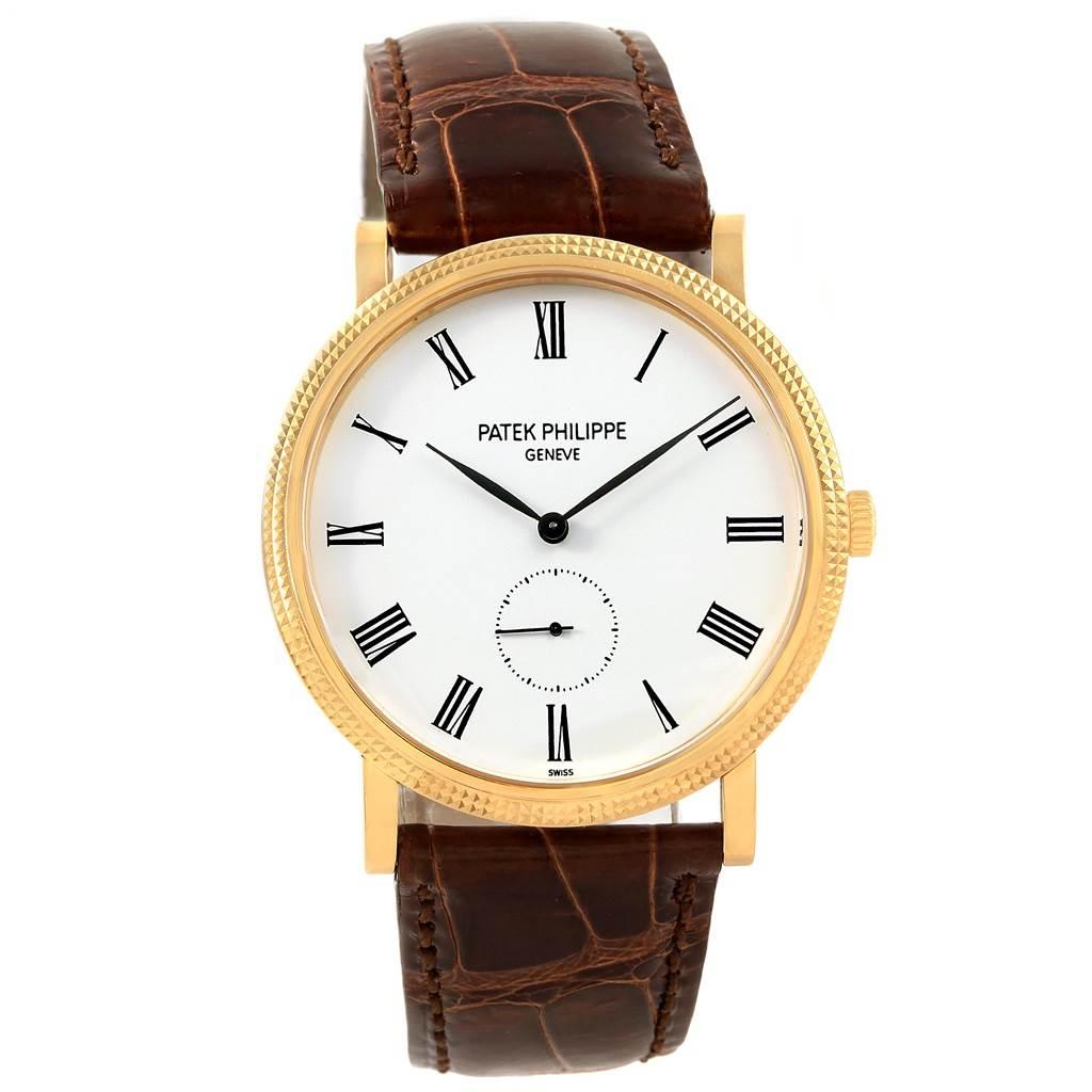 17745P Patek Philippe Calatrava 18k Yellow Gold Automatic Watch 5119 Papers SwissWatchExpo