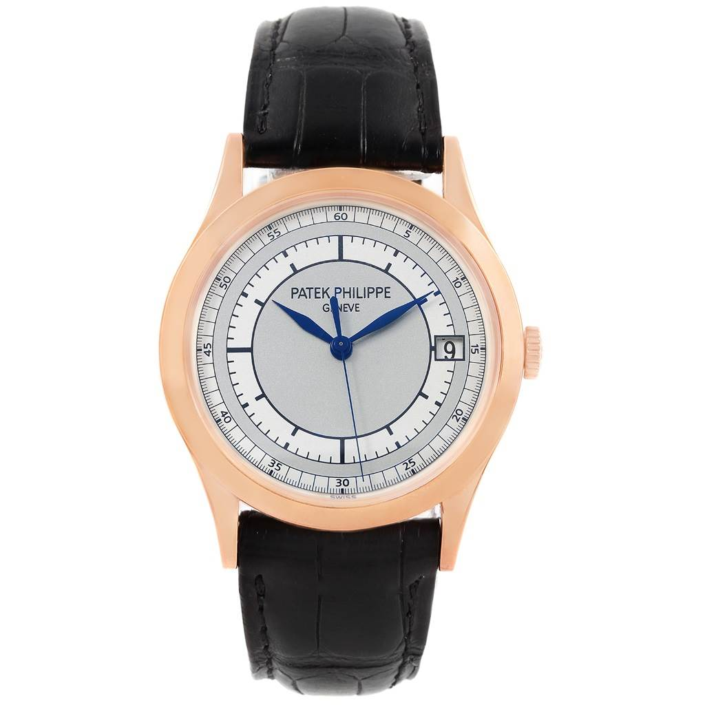 18245 Patek Philippe Calatrava 18K Rose Gold Mens Watch 5296R Box Papers SwissWatchExpo