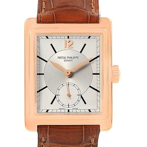 Photo of Patek Philippe Gondolo 18K Rose Gold Mens Watch 5010 Papers