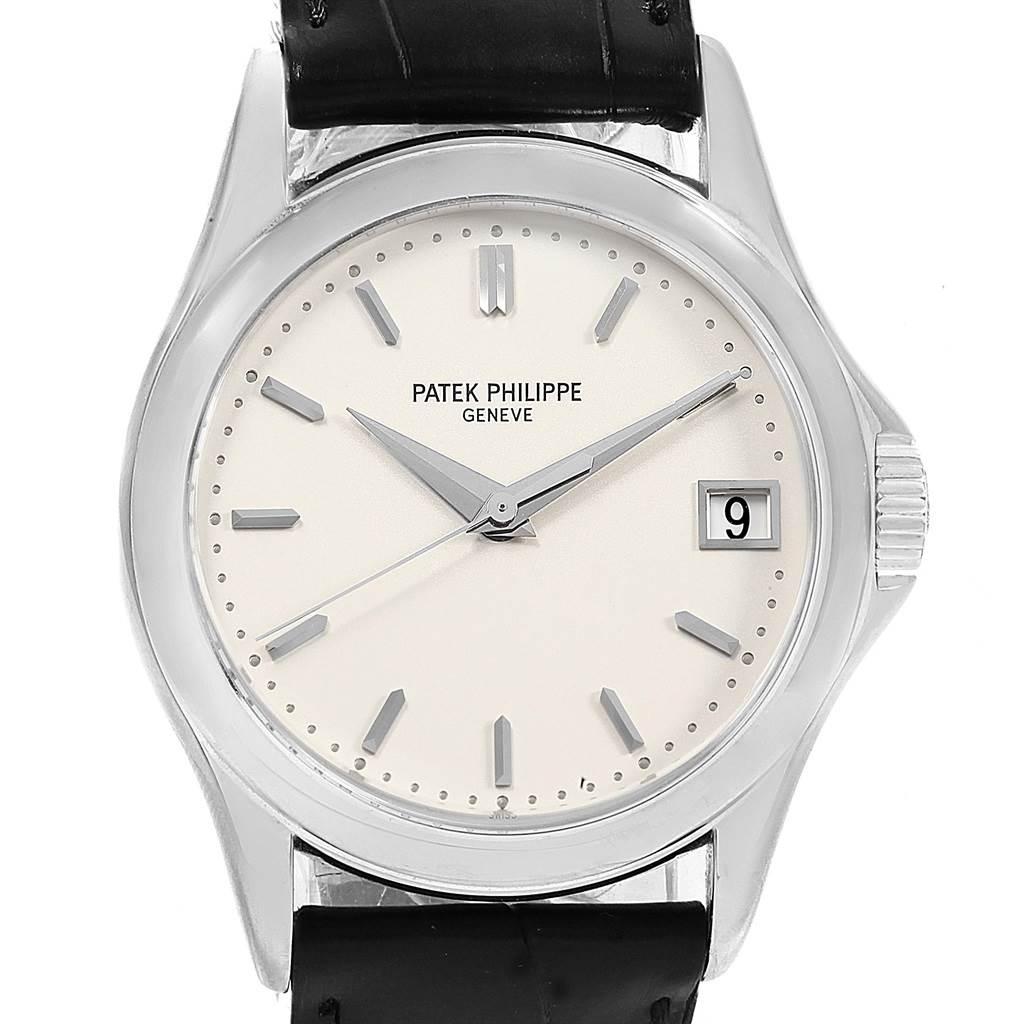 18540 Patek Philippe Calatrava White Gold Automatic Mens Watch 5127G SwissWatchExpo