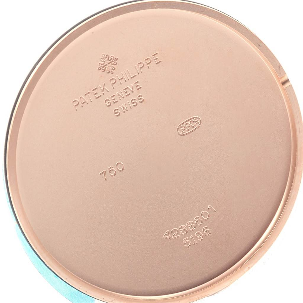 18693 Patek Philippe Calatrava 18k Rose Gold Opaline Dial Mens Watch 5196R SwissWatchExpo