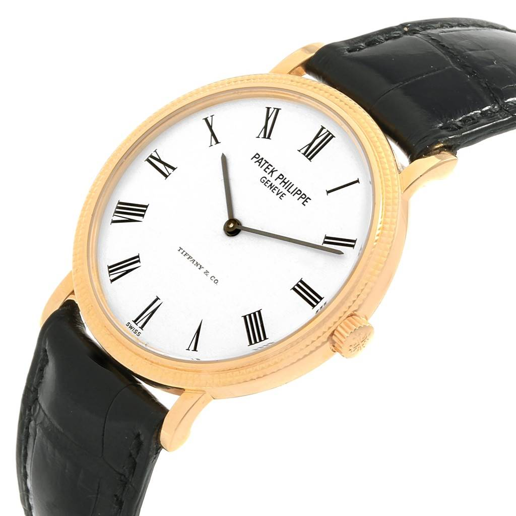 18230 Patek Philippe Calatrava Tiffany Yellow Gold Automatic Watch 5120 SwissWatchExpo