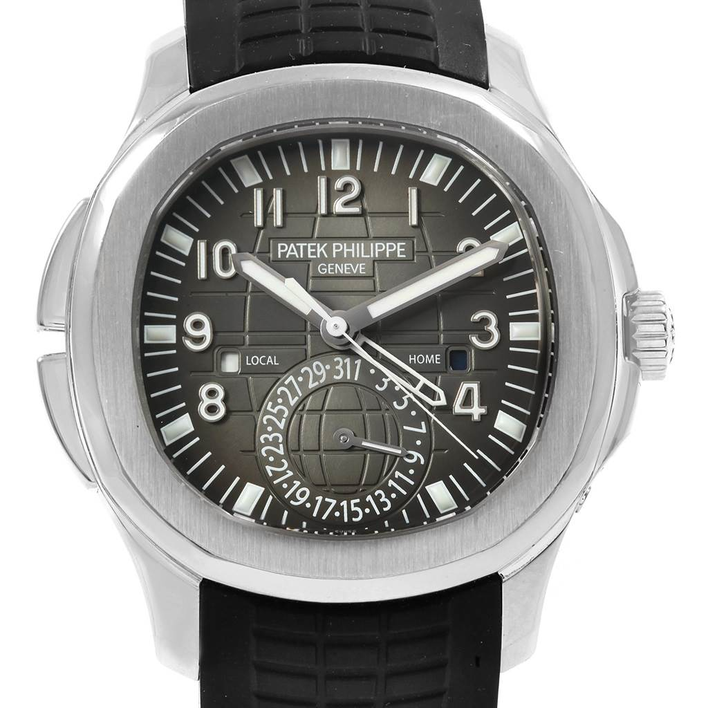 Patek Philippe Aquanaut Travel Time Steel Mens Watch 5164a Box Papers
