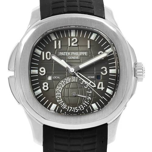 Photo of Patek Philippe Aquanaut Travel Time Steel Mens Watch 5164A Box Papers