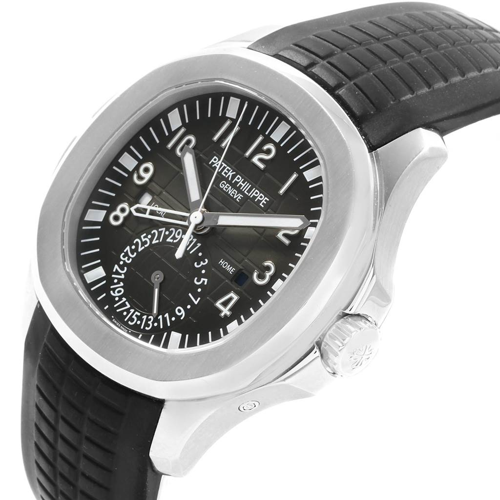 19905 Patek Philippe Aquanaut Travel Time Steel Mens Watch 5164A SwissWatchExpo