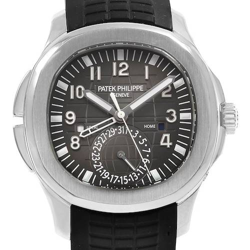 Photo of Patek Philippe Aquanaut Travel Time Steel Mens Watch 5164A