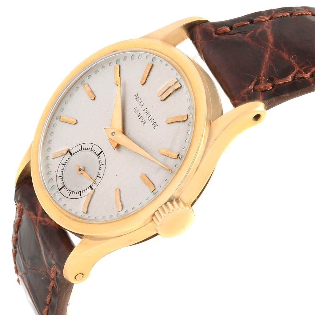 Patek Philippe Calatrava Vintage 18k Yellow Gold Mechanical Watch 96 SwissWatchExpo