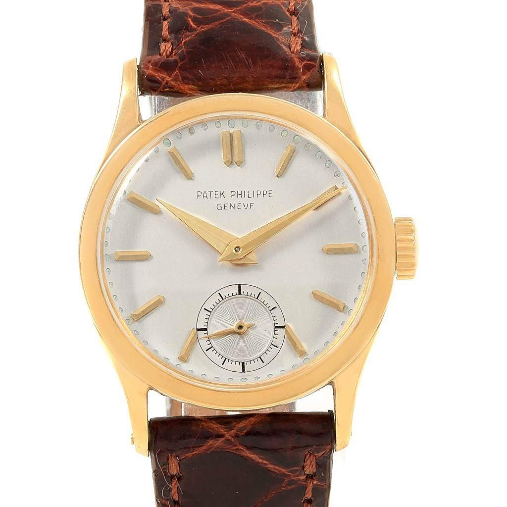 18459 Patek Philippe Calatrava Vintage 18k Yellow Gold Mechanical Watch 96 SwissWatchExpo