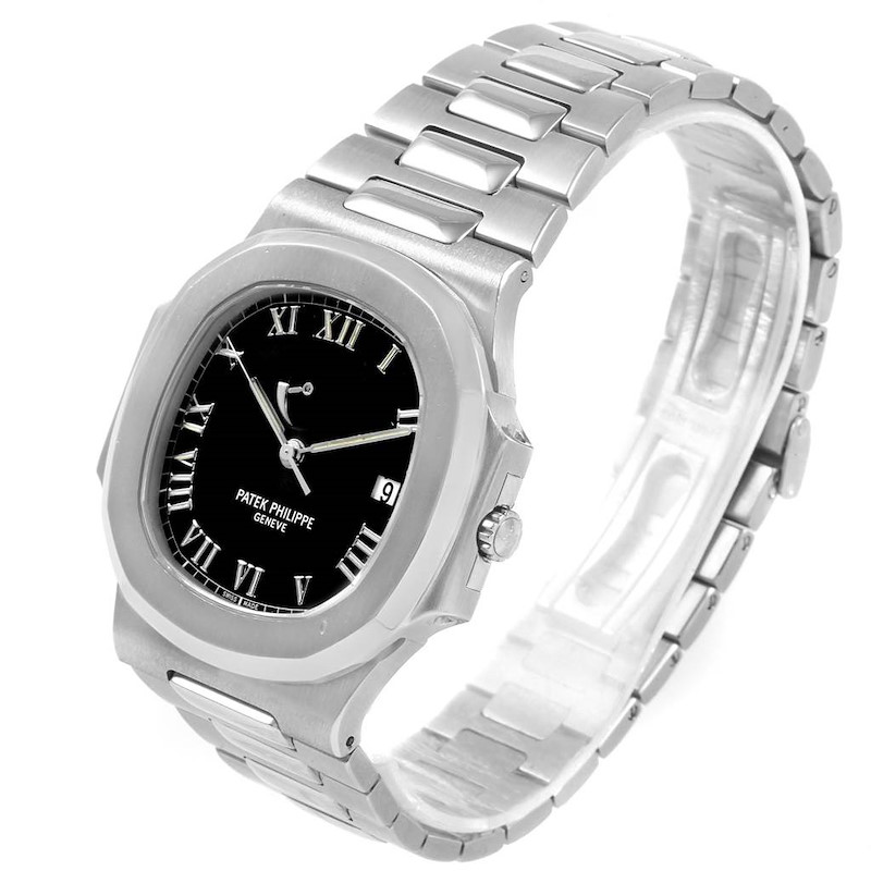 Patek Philippe Nautilus Power Reserve Steel Mens Watch 3710 SwissWatchExpo