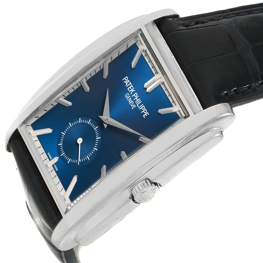 21025 Patek Philippe Gondolo Small Seconds White Gold Blue Dial Watch 5124G SwissWatchExpo