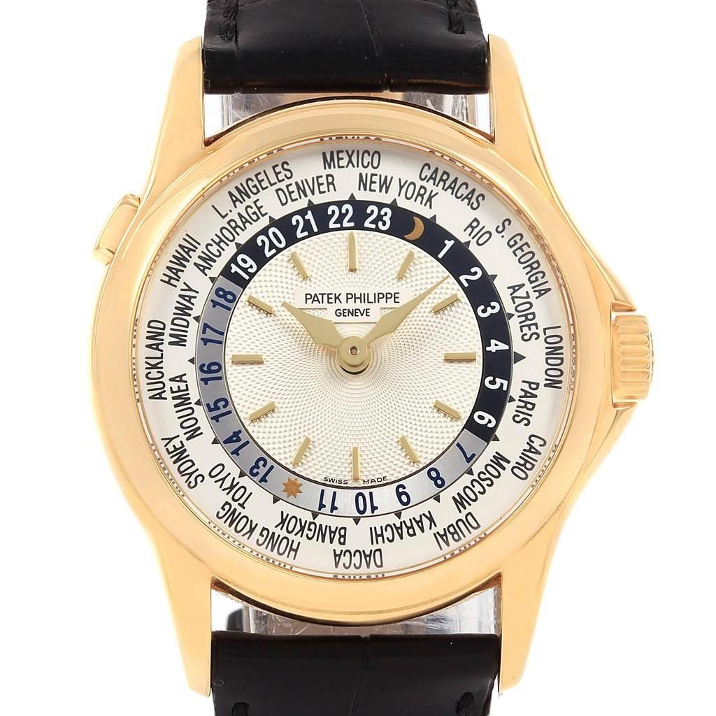 21036 Patek Philippe World Time Complications Yellow Gold Watch 5110J SwissWatchExpo