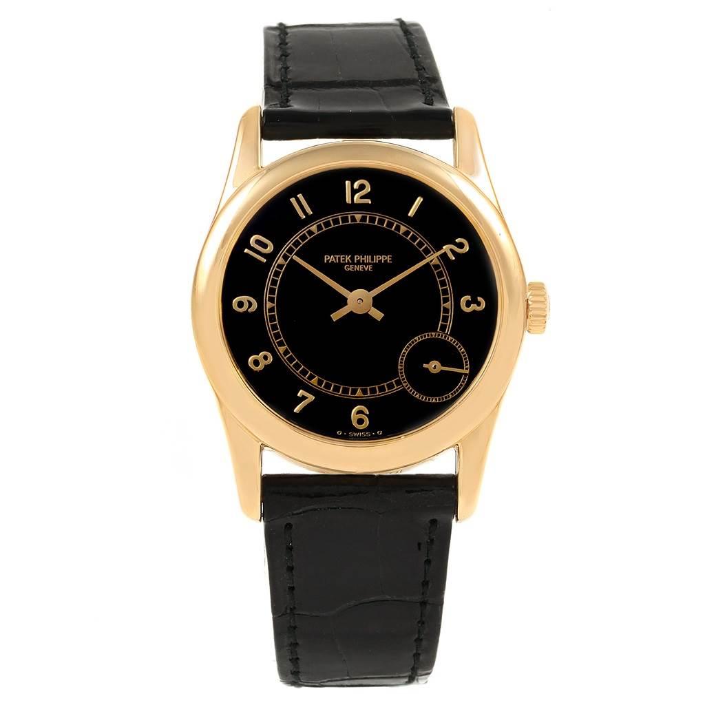 21043 Patek Philippe Calatrava 18K Yellow Gold Automatic Mens Watch 5000J SwissWatchExpo