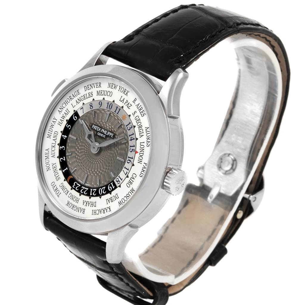 Patek Philippe World Time Complications White Gold Mens Watch 5230G SwissWatchExpo