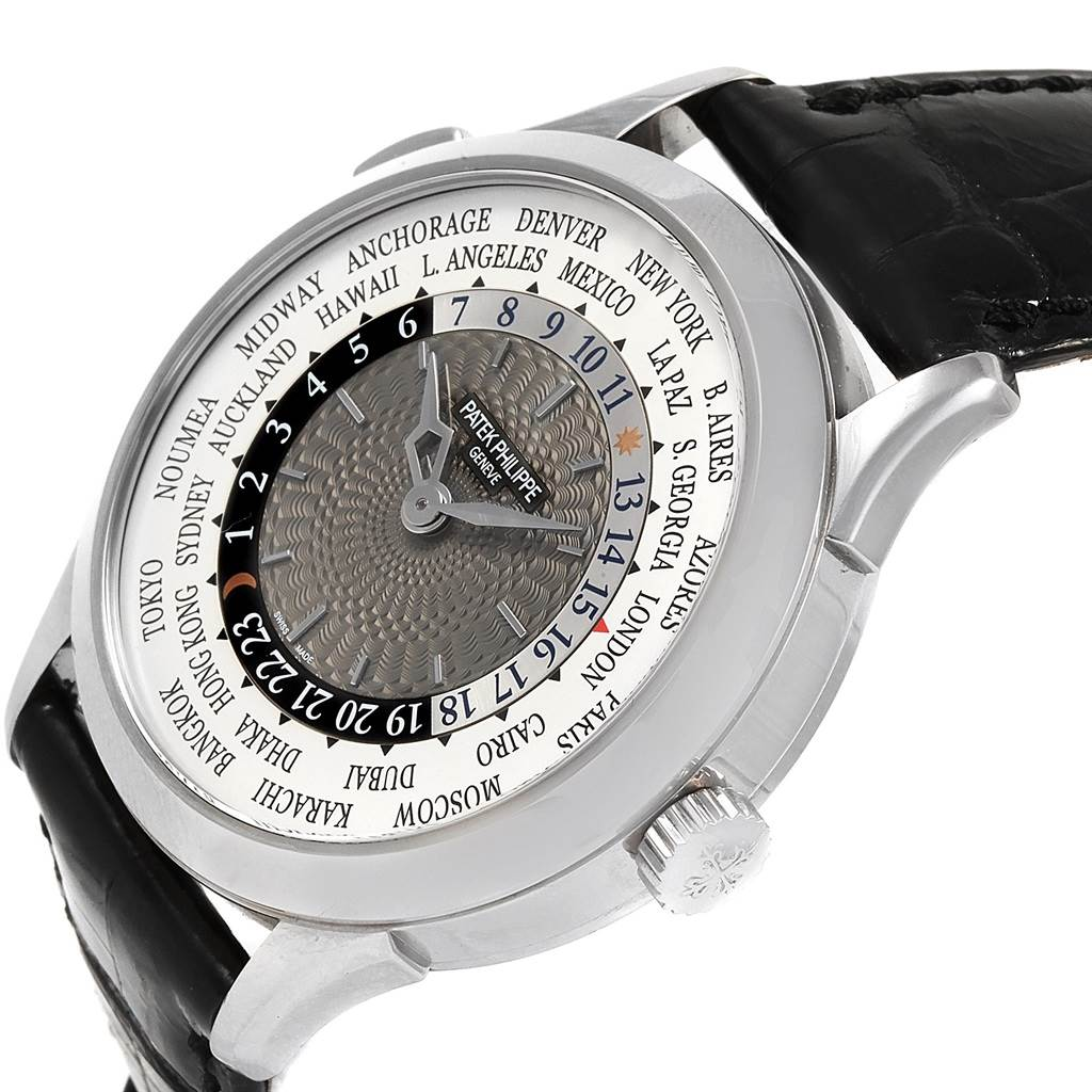21298 Patek Philippe World Time Complications White Gold Mens Watch 5230G SwissWatchExpo