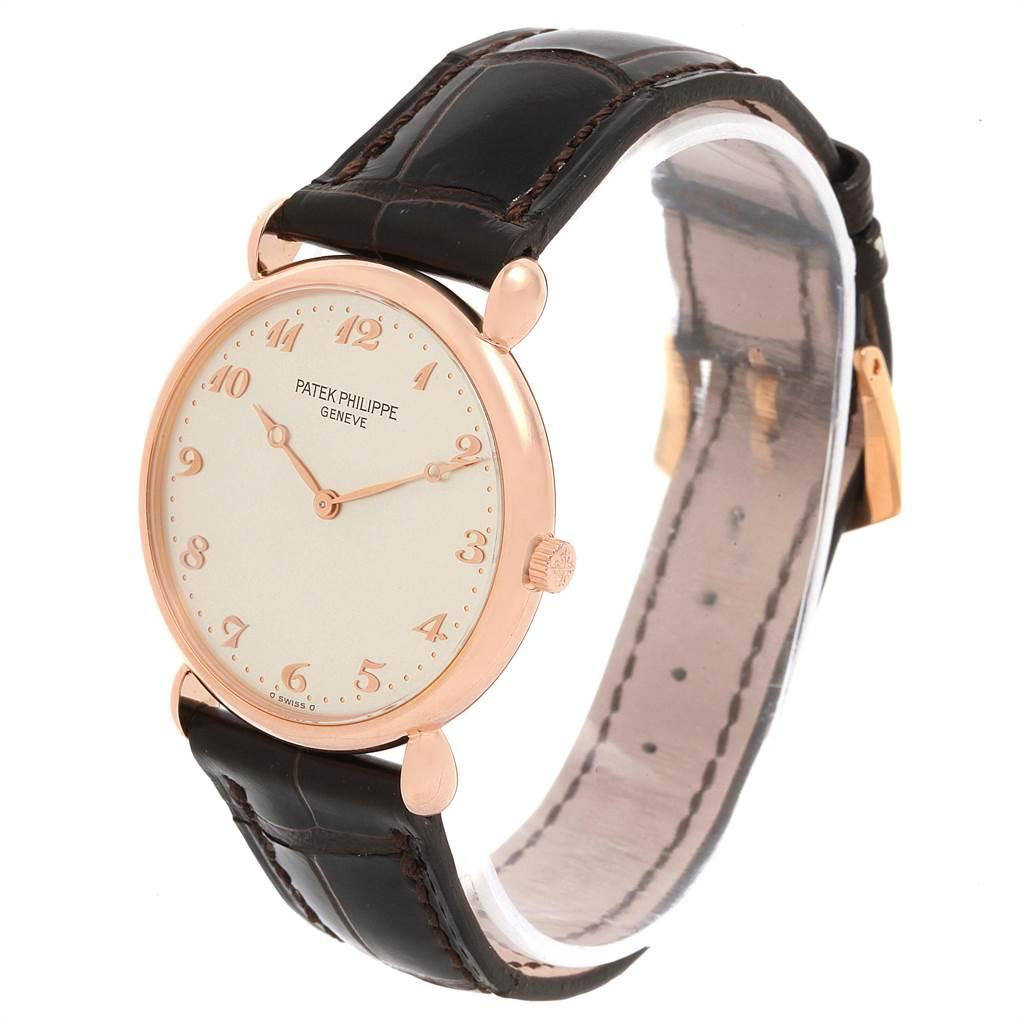 21623 Patek Philippe Calatrava Rose Gold Vintage Mens Watch 3820 Box Papers SwissWatchExpo