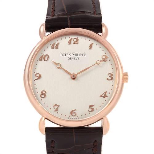 Photo of Patek Philippe Calatrava Rose Gold Vintage Mens Watch 3820 Box Papers