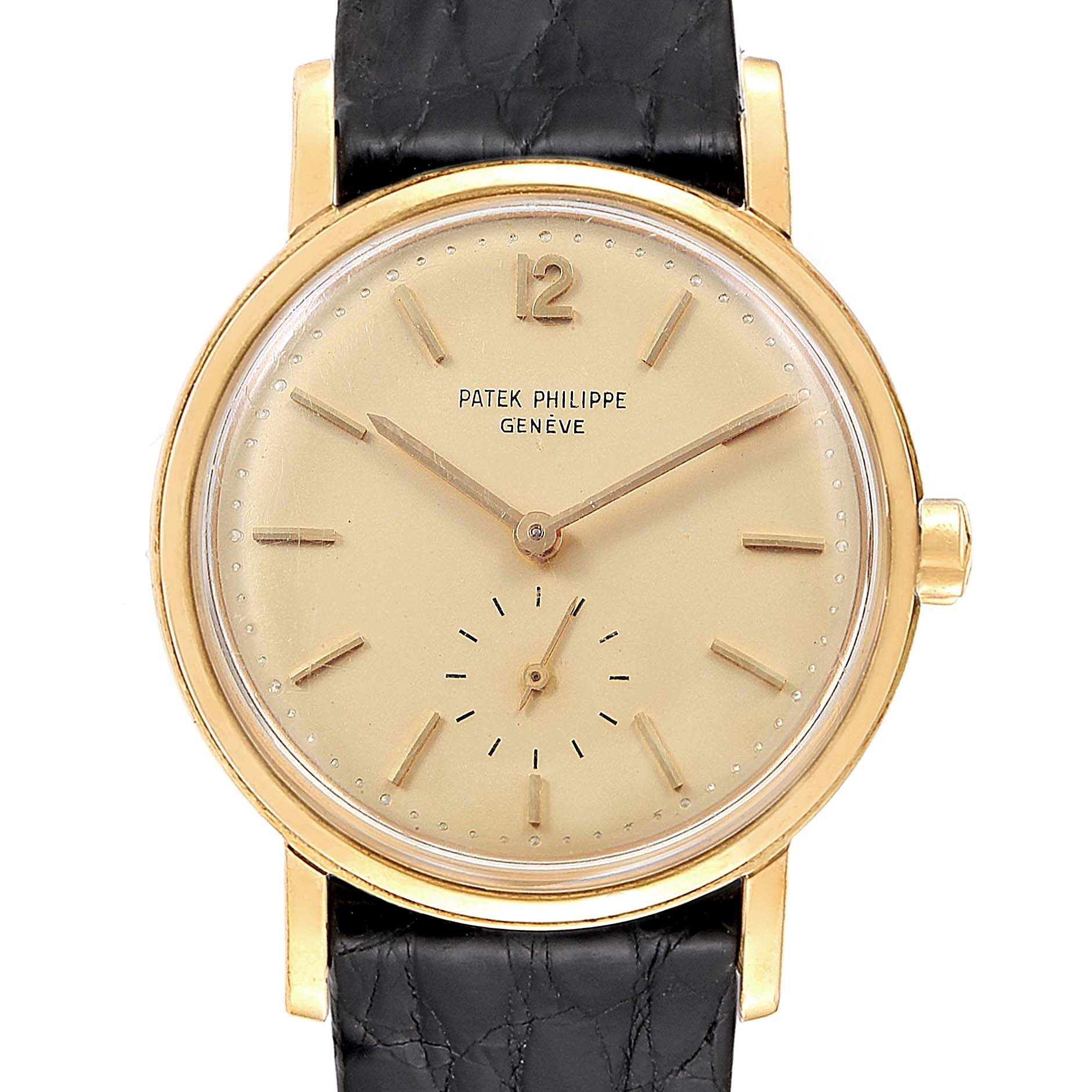 Patek Philippe Calatrava Vintage Yellow Gold Automatic Mens Watch 3435 SwissWatchExpo